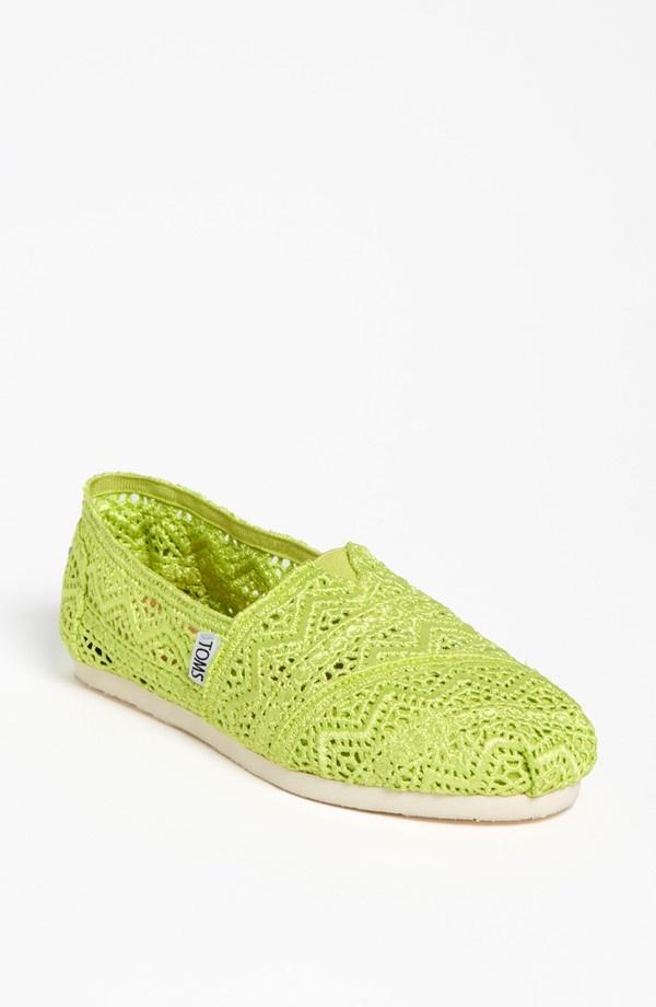 TOMS 'Classic - Neon' Crochet Slip-On