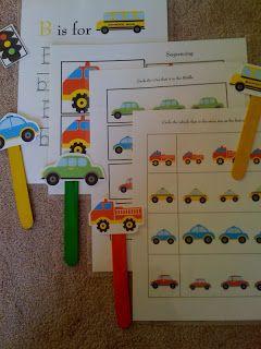 Preschool Printables: Transportation