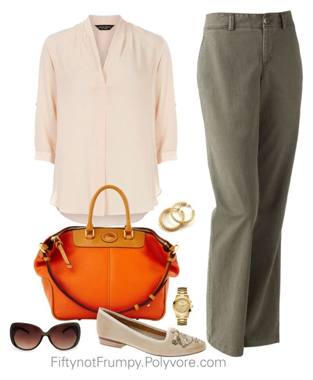 """""""Flats with Trousers"""" by fiftynotfrumpy ❤ liked on Polyvore featuring Dorothy Perkins, Dooney & Bourke, Dockers, GUESS, MANGO, Bertie and YooLa"""