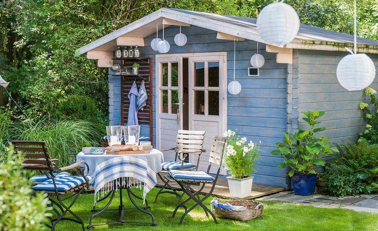 Gartenhaus streichen: So geht's richtig