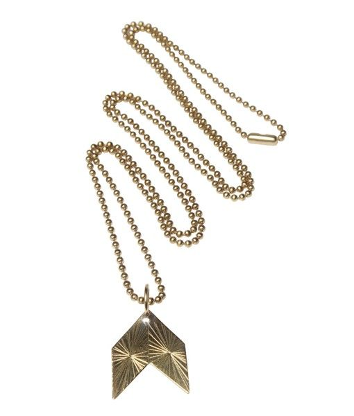 Qvist Jewellery | Urban Desert Necklace – Brass | €107 | ENIITO