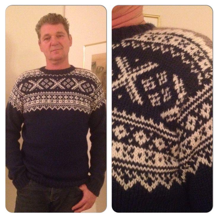 Noorse trui gemaakt van Garnstudio Drops Karisma