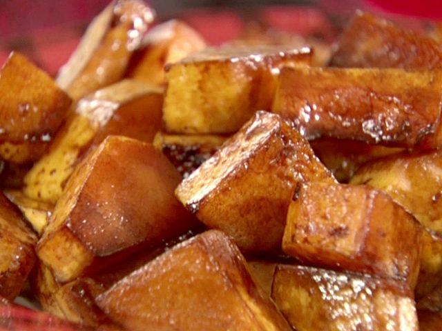 Balsamic Glazed Butternut Squash recipe from Sandra Lee via Food Network