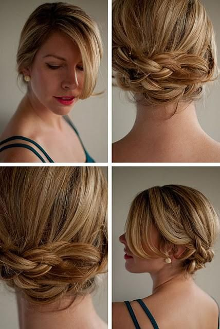Cute braids: Hair Ideas, Wedding Hair, Bridesmaid Hair, Braids Updo, Long Hair, Hairstyle, Hair Style, Hair Romances, Braids Buns
