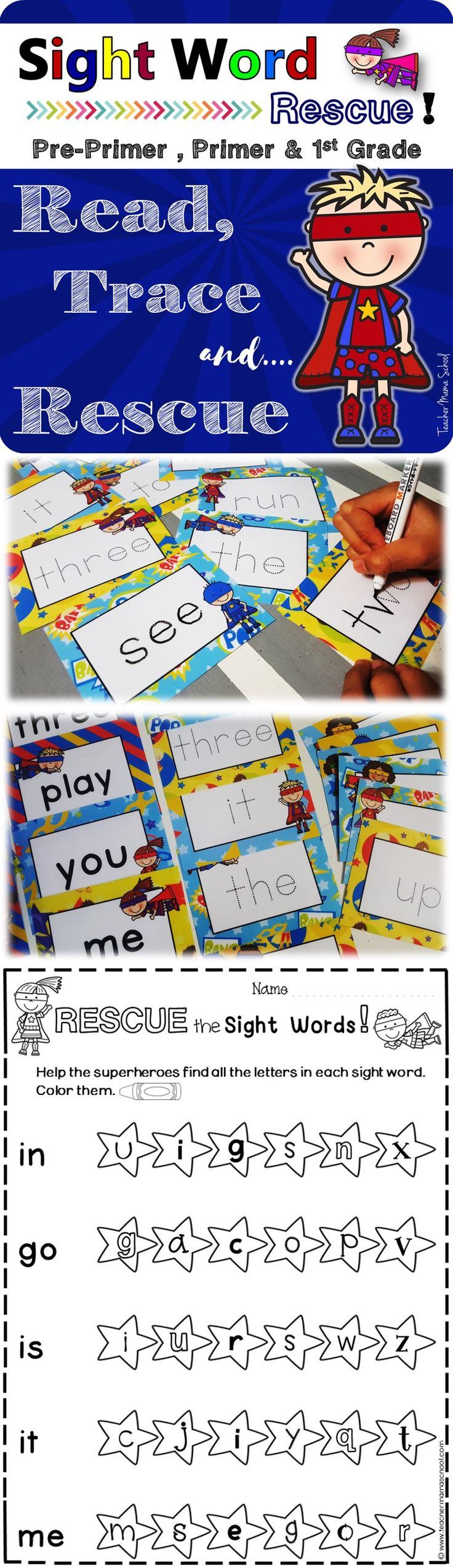 Dolch sight words | practice worksheets | flash cards | trace | 3 different sight word activities in one value for money pack!