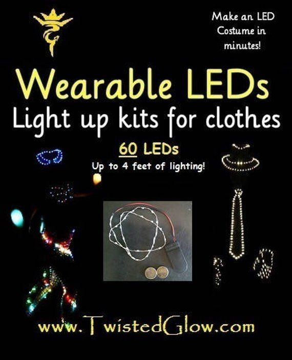 Diy Led Kit Up To 6 Feet Of Lights Create Your Very Own Led Rave Bra Outfit Or Costume In Minutes You Can Attach These Leds To Anything Led Costume