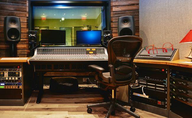 The Anexe Studio control room with SSL AWS 948 console.