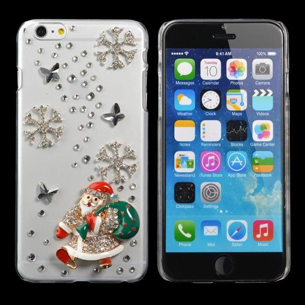 Christmas Handmade Bling Santa Claus Shape Case For iPhone 6/6s Plus…