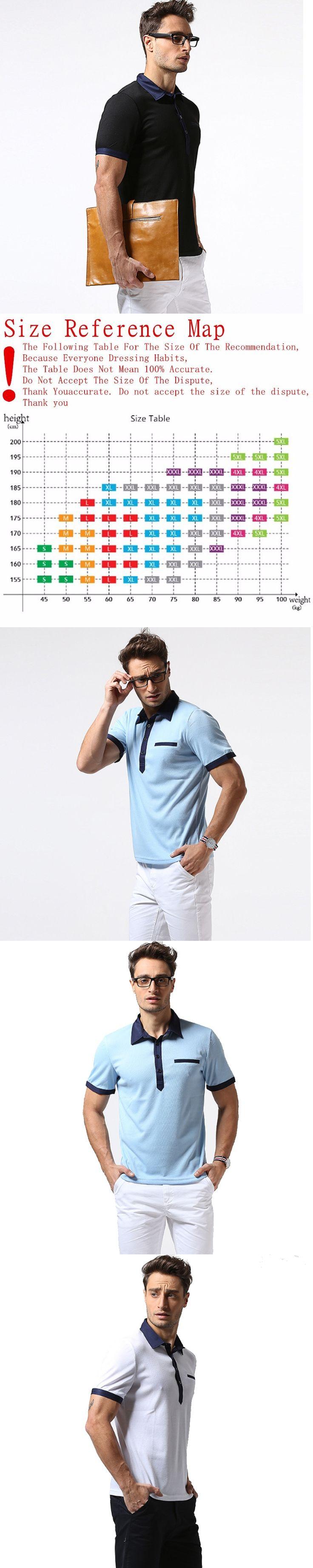 New Brand Men'S Polo Shirt For Men Polos Men Cotton Lapel Short Sleeve Hit Color Polo Shirt  Size XXL Camisa Polo