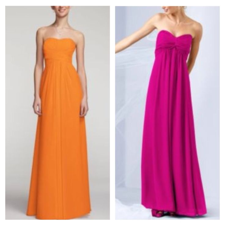 26 best hot pink tangerine lime wedding images on for Pink and orange wedding dresses