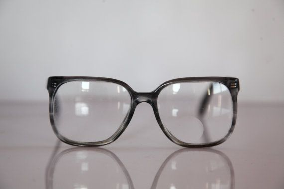 Vintage ROW eyewear Crystal Gray Frame Clear Lenses Rx