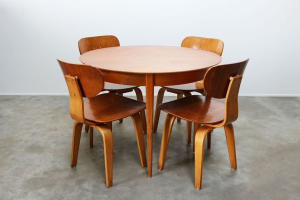 Mid Century Teak Dining Set By Cees Braakman For Ums Pastoe 1952