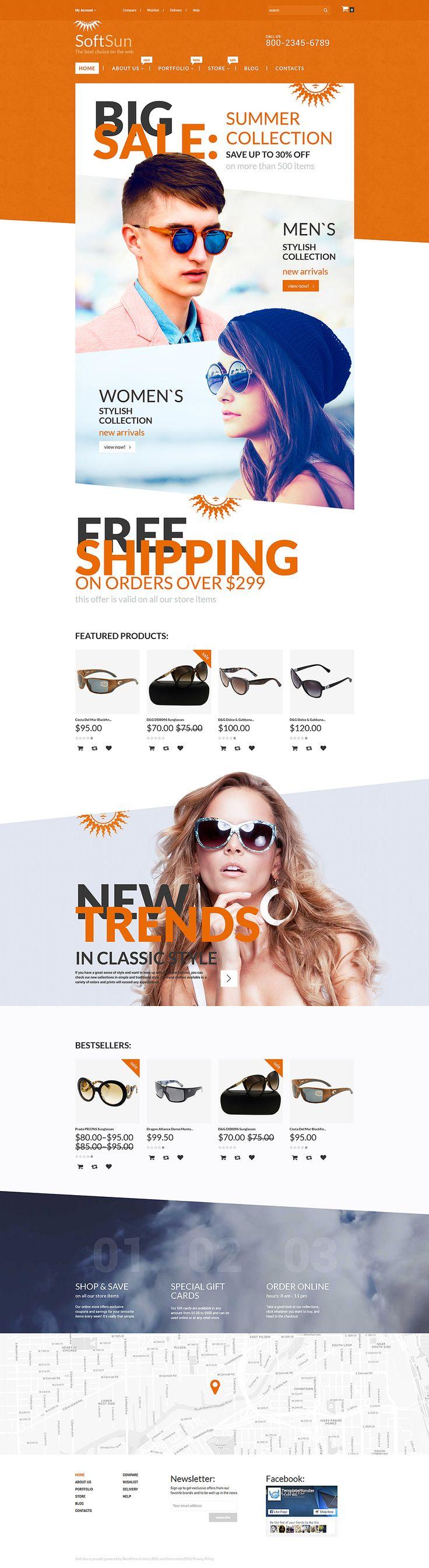 Sunglasses Shop WooCommerce Theme