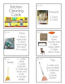 Chore Cards {Chore Flip Charts} help your kids remember how to clean a room in order using these easy to use chore cards. Includes pictures for kids that can't read yet.