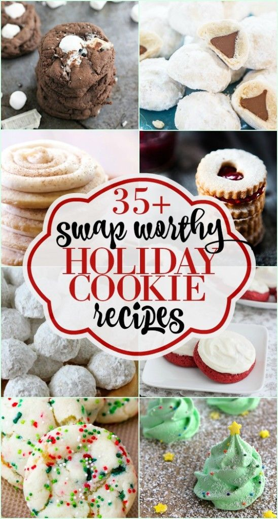 35+ #Holiday #Cookie Swap Recipe Ideas | Some of the BEST Christmas cookie recipes around! Don't miss this roundup. #cookies