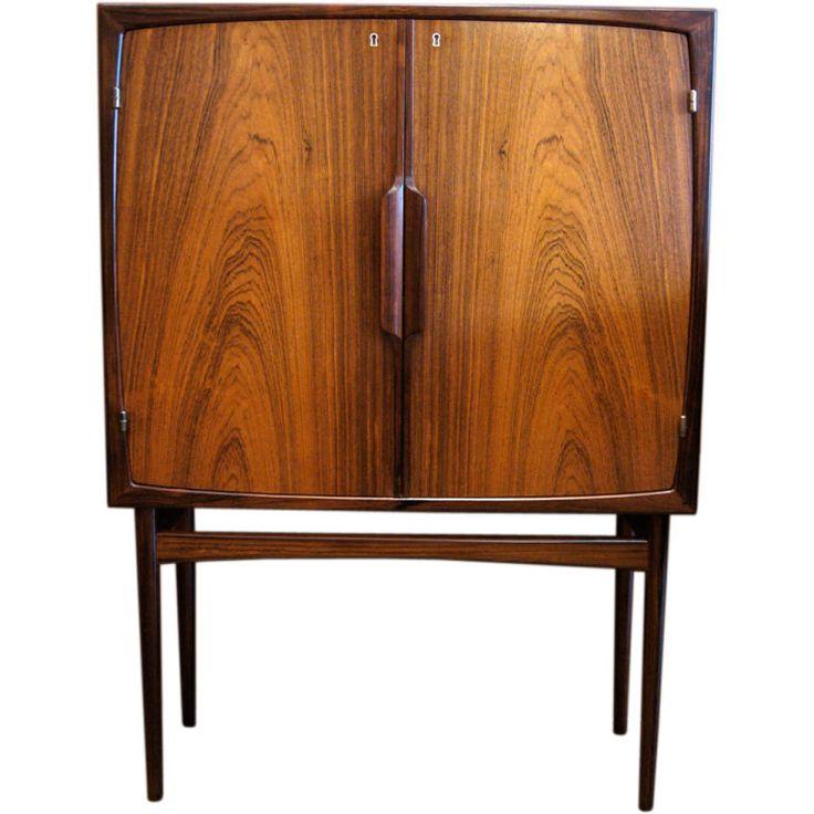 Norwegian Mid Century Modern Bar Cabinet In Rosewood