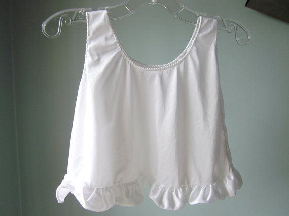 Vintage Baby Slip 1960s White Nylon with a Ruffle by ...