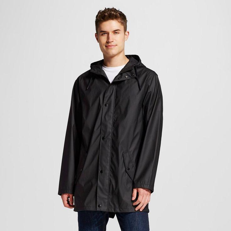 Men's Water Resistant Jacket Black Xxl - Mossimo Supply Co., Ebony