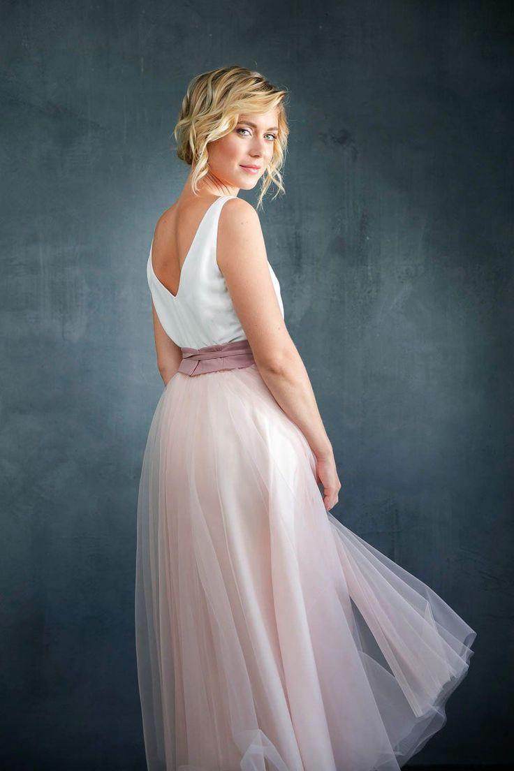 Tüllrock, Rosa, wadenlang in 13  Braut, Kleid hochzeit, Brautmode