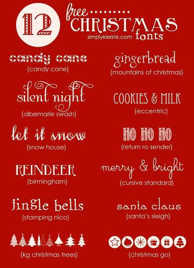 Favorite Free Christmas Fonts | simplykierste.com: