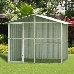 metal and galvanized steel wire aviary