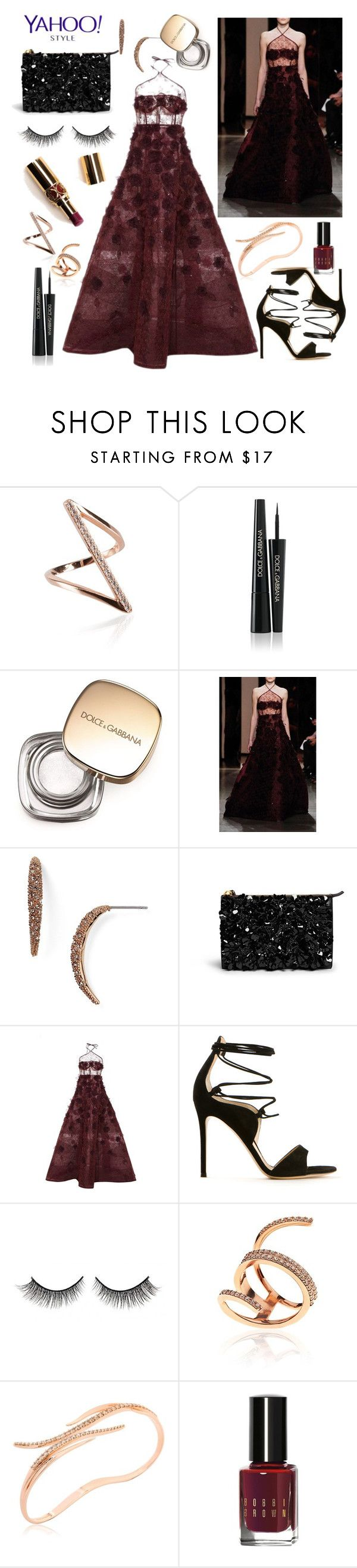 MET GALA: China -Through The Looking Glass by riverinthedesert on Polyvore featuring Oscar de la Renta, Gianvito Rossi, Marni, Cristina Ortiz, Alexis Bittar, Dolce&Gabbana, Rimini, Bobbi Brown Cosmetics, Yves Saint Laurent and contestentry