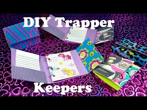 DIY Miniature Trapper Keepers: Doll School Supplies - YouTube