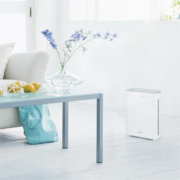 Klarstein Vita Pure 2G Luftreiniger Ionisator 5-fach Filter 55W UV-C Touch weiß: Zum vergrößern Bild anklicken!
