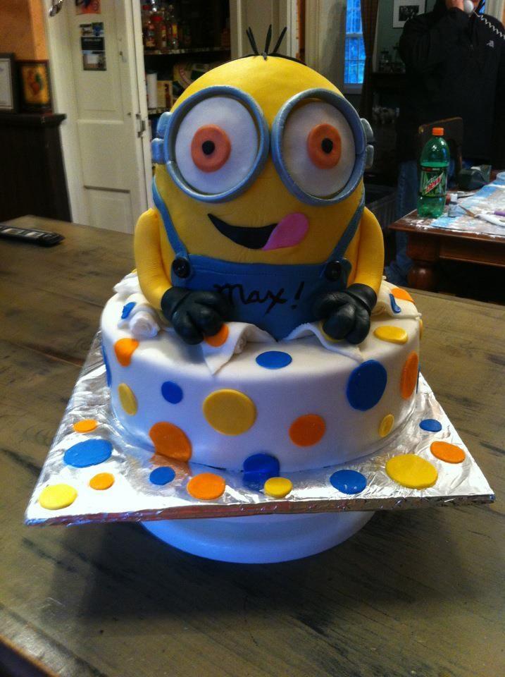 happy birthday max minion cake  minion cake cake desserts