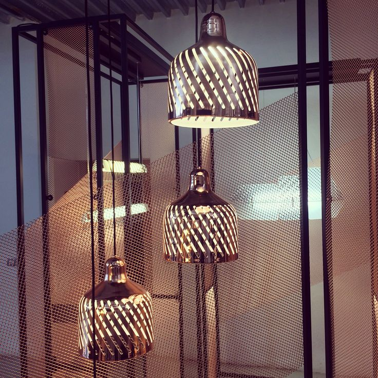 Very nice and creative light pendants from @waypointlight. Milan Design Week is fabulous! #lighting #light #fuorisalone #milandesignweek #milan #pendantlighting