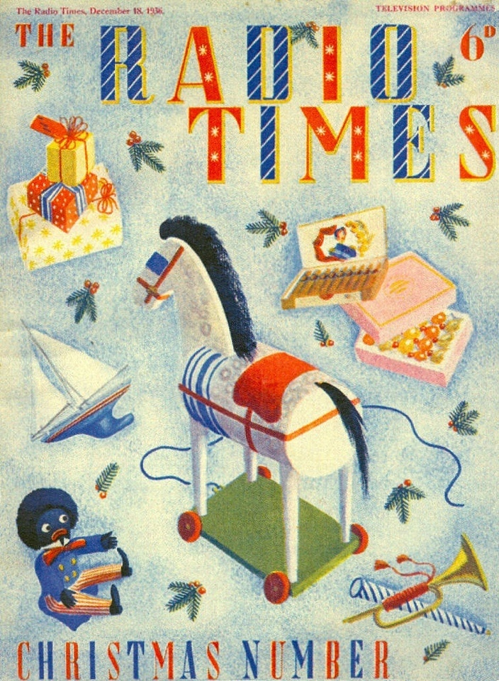 Archival covers of Radio Times, the weekly UK radio and television program listing magazine affiliated with the BBC.