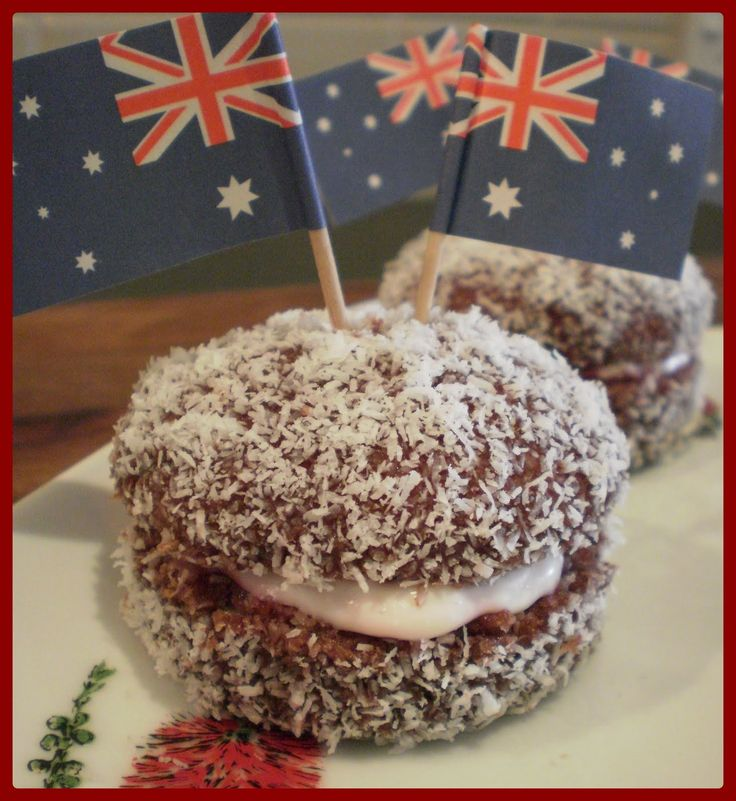 Lamington Oreos are a perfect way to celebrate the Australian culture, a great way to present this treat is to simply add a small Australian flag as a decoration.