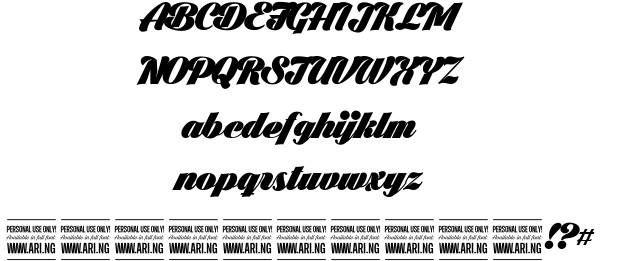 Black Larch font