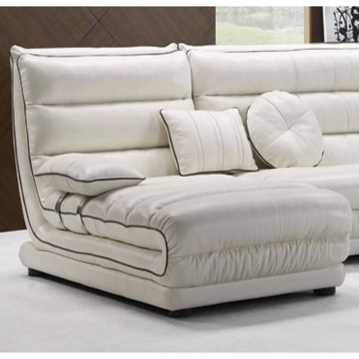 Outstanding Small Sectional Sofas Design for Your Living Room: Contemporary White Modern Style Small Sectional Sofas Design Ideas ~ mybutteryfly.com Sofa Inspiration