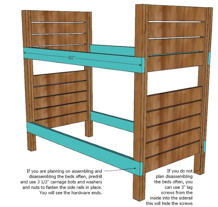 Best Ana White Build A Side Street Bunk Beds Free And Easy 400 x 300