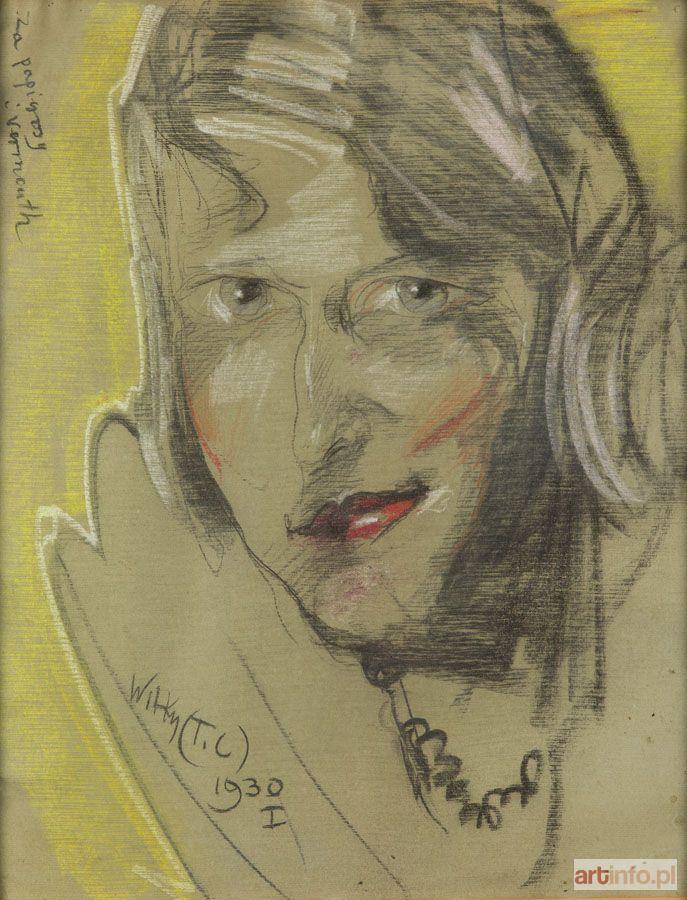 - WITKIEWICZ Stanisław Ignacy WITKACY ● Portret Ireny Próchnikowej z Gomólińskich, 1930 r. ●