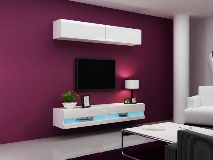 ... cz luxe design tv wandmeubel uitgevoerd in het hoogglans wit pin 3