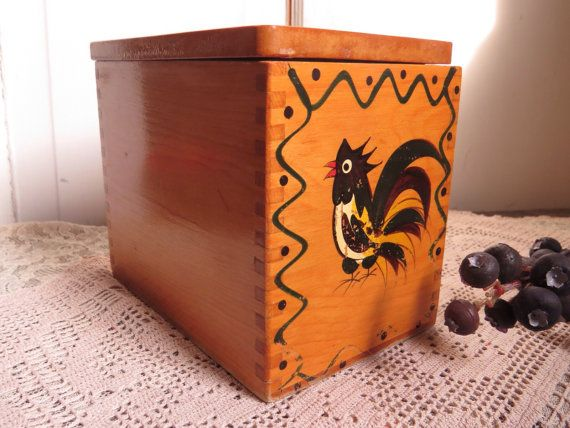 Vintage Wood Decorative Box Canister by CreativeWorkStudios