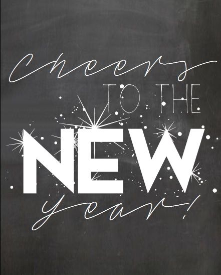 Cheers To The New Year Free Chalkboard Printable www.lifeprekarious.com