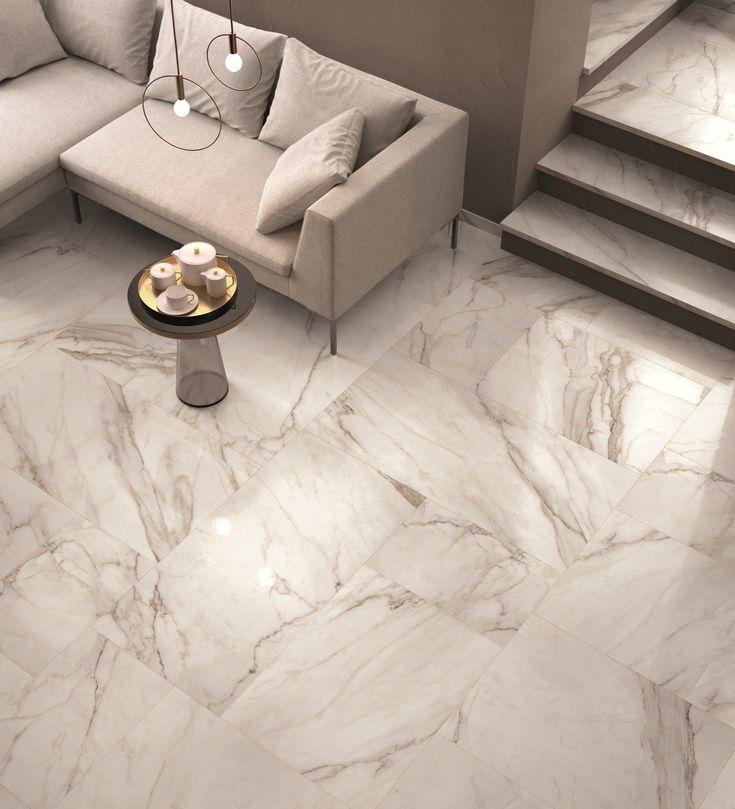 Wand- und Bodenbelag mit Marmor-Effekt SUPREME by Flaviker Contemporary Eco Ceramics
