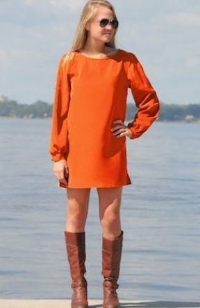 Mandi Dress #clemson #auburn #gameday #orange