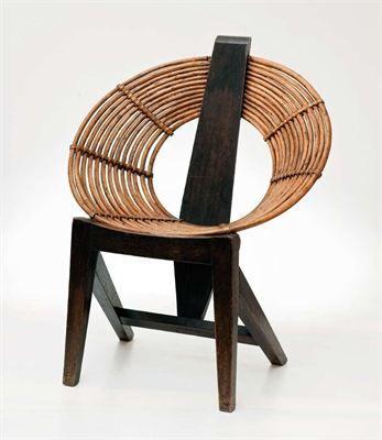 Krzesło z wikliny, proj. W. Wołkowski