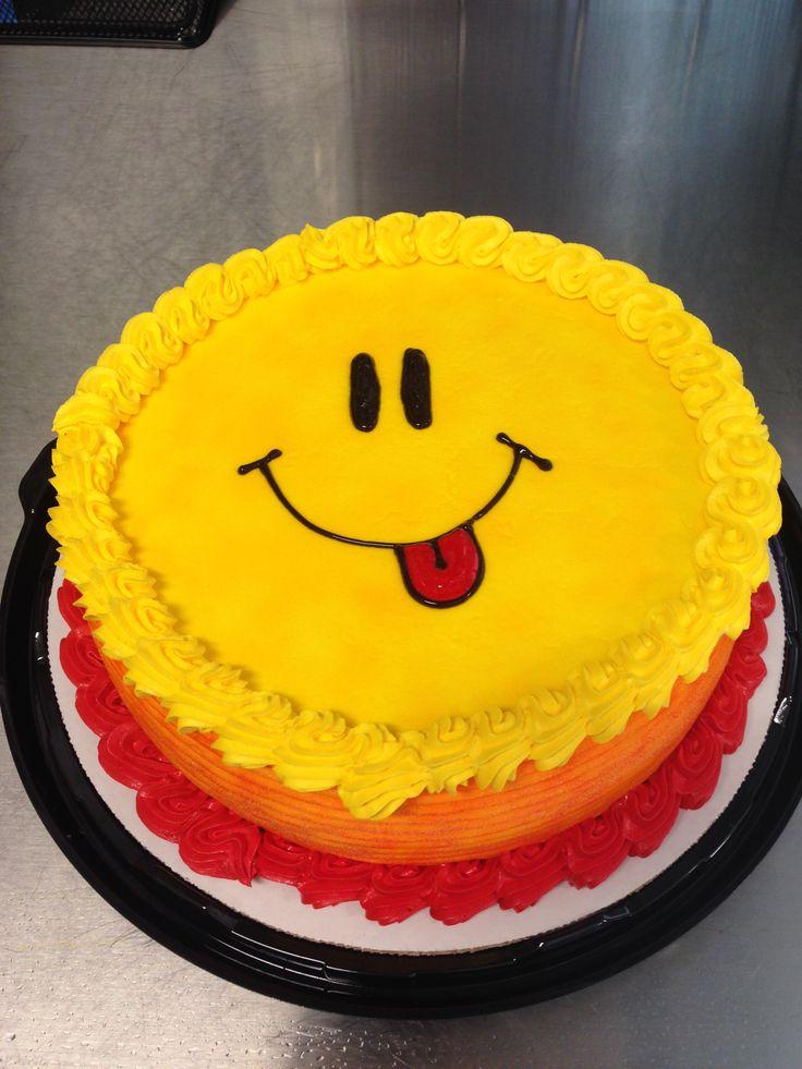 DQ ice cream cake smiley face