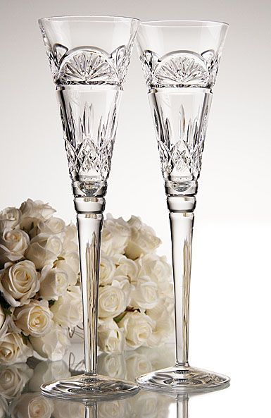 Waterford JOL Lismore Celebrations Toasting Flute, Pair - Crystal Classics