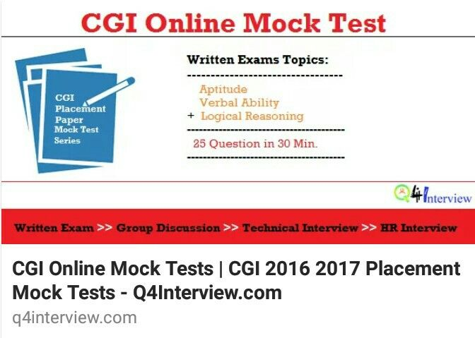 Cgi Placement Paper With Answers Written Round Online Mock Test For Practice