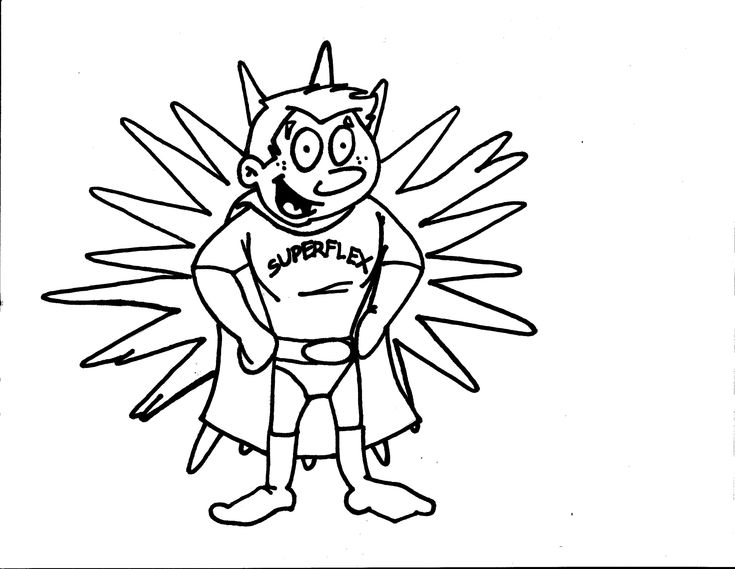 Superflex Coloring Page For Each Character Identify The Problem Unthinkable Causes And