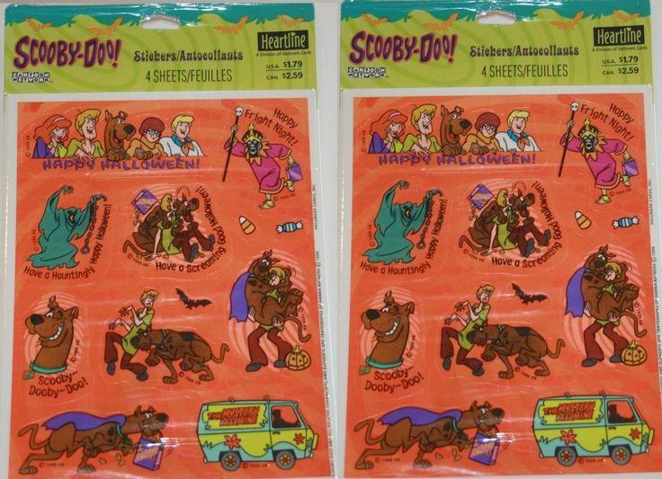 Scooby-Doo HALLOWEEN Stickers ~ (8) Sheets  ~ Reward Stickers Decorations Favors    eBay