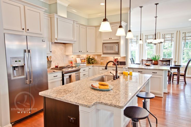 kitchen plans: Stephen Alexander, Home Tours, Kitchens Colors, Dreams Houses, Dreams Kitchens, Kitchens Layout, Open Kitchens, Caramel Cottages, White Cabinets