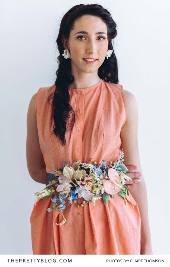 Make your own floral accessories - like this beautiful floral belt!