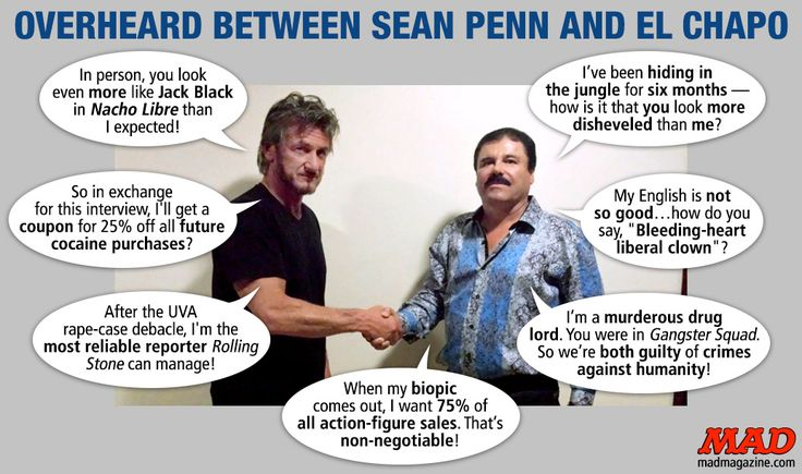 Overheard Between Sean Penn and El Chapo | Mad Magazine